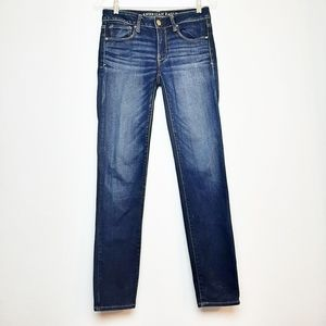 American Eagle Skinny Jeans Straight Mid Rise 2
